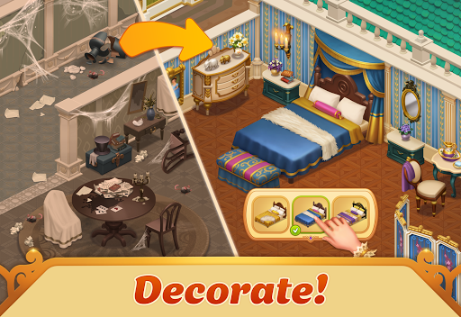 Storyngton Hall: Match Three & Decorate a House 13.5.0 screenshots 1
