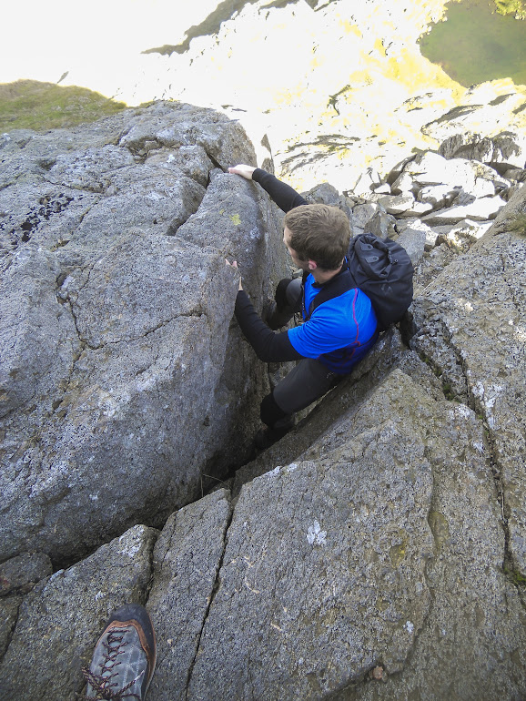 The V groove on Clogwyn y Person arete