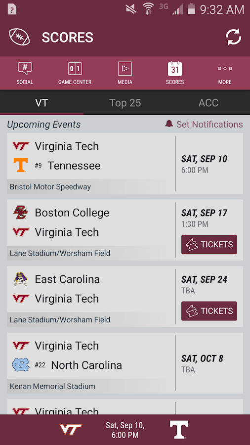 Virginia Tech HokiesXtra- screenshot