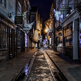 The Shambles by Phil Green - Buildings & Architecture Public & Historical ( street, york, shops, shambles, evening )