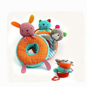 趣緻小動物立體層層疊益智車床掛/吊飾玩具T432現貨包郵