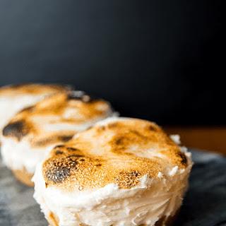 Mini Toasted Marshmallow Cheesecakes.