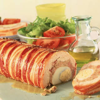 Chicken, Sausage and Egg Roulade.