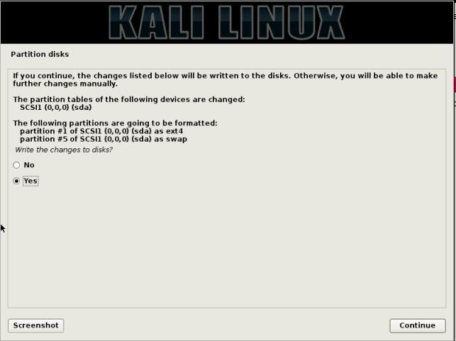 partisi Install Kali Linux di Laptop