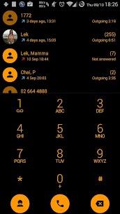 Dialer theme Flat Black Orange 50.0 MOD for Android 2