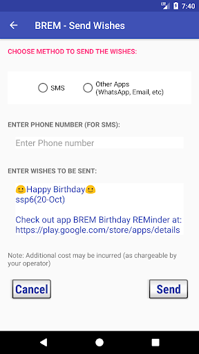 BREM (Birthday REMinder) 3.0 Screenshots 6