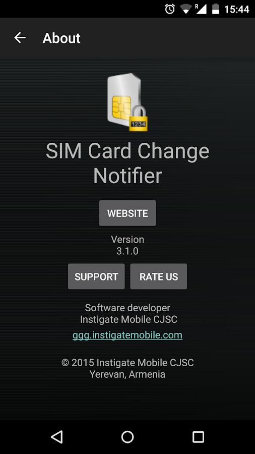 SIM Card Change Notifier- screenshot
