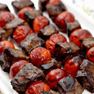 Balsamic Steak Skewers.