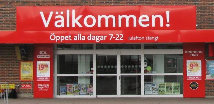 Supermarkt in Schweden: täglich geöffnet, nur Heiligabend geschlossen.