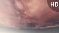 White Pink Cirrus Clouds on Violet Sky - 17