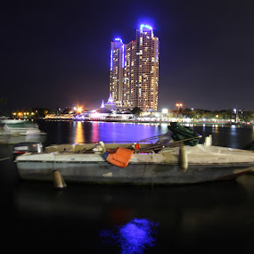 Ancol Beach by Arie Wibowo - City,  Street & Park  Night