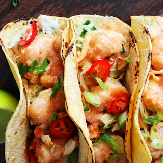 Thai Shrimp Tacos with Coconut-Curry Sauce