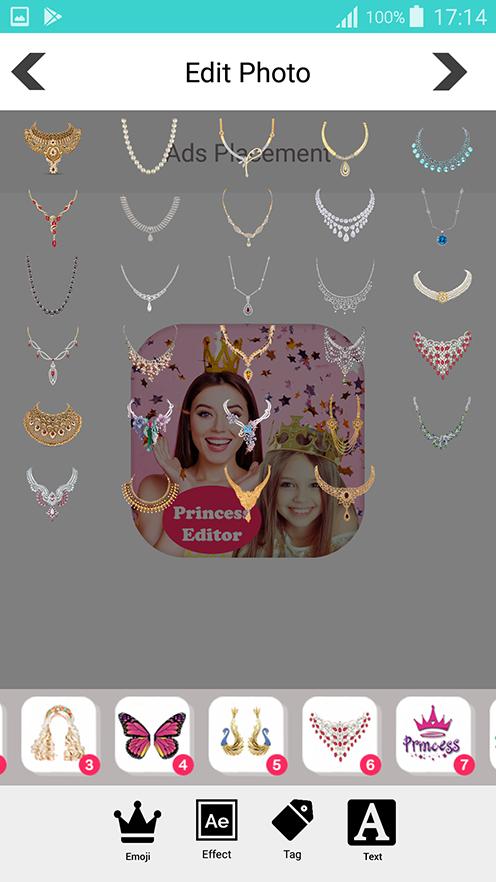 Скриншот Princess salon photo editor
