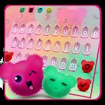 Kawaii Fluffy Teddy Bear Keyboard Theme
