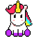 Unicorn Art Pixel - Color By Number icon