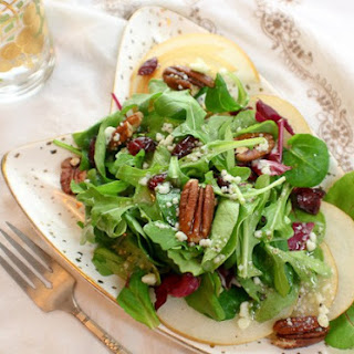 Korean Pear, Cranberry, Pecan Salad with Ambrosia Vinaigrette