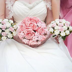 Flower Bride by Ami Hawker - Wedding Details ( white, bridesmaid, pink, bride, flowers )