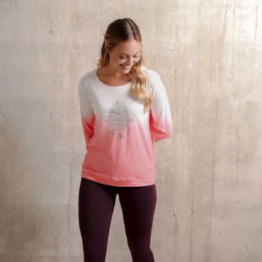Shirt Long Sleeve Shakti Flamingo/White