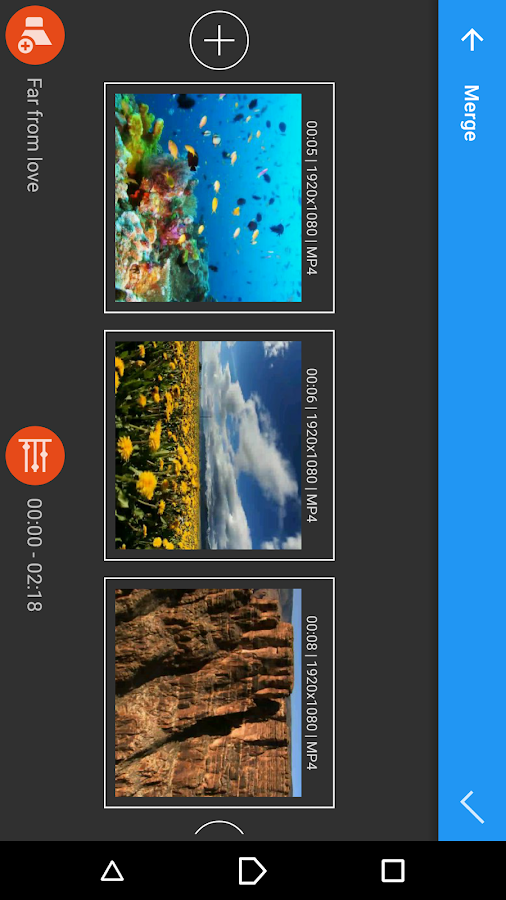 AndroVid Video Editor- screenshot
