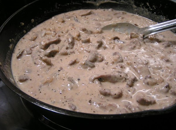 Just before serving, stir in sour cream. Heat through, but do not boil. Serve...