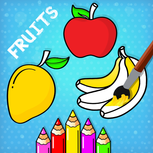 Fruits Coloring Book & Drawing Book Game For Kids