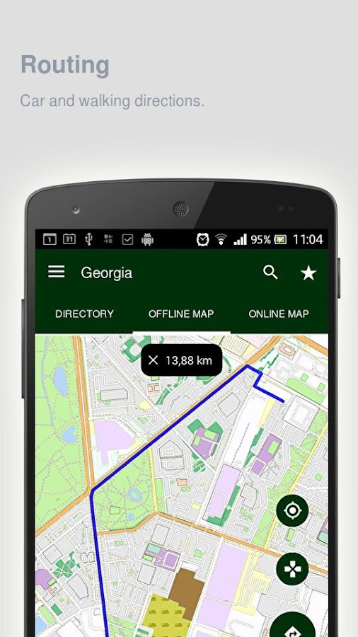 Georgia Map Offline Android Apps On Google Play - Georgia vt map