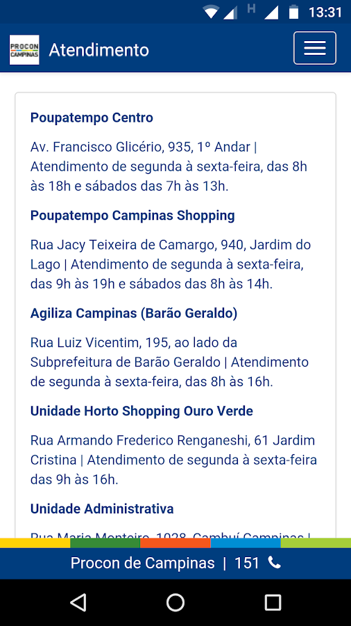Procon Campinas- screenshot