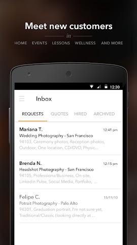 android Thumbtack for Professionals Screenshot 0