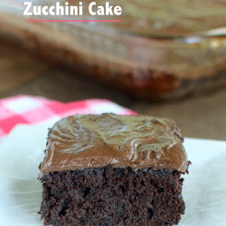 Dark Chocolate Zucchini Cake.