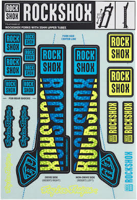 RockShox Decal Kit, 35mm, Troy Lee Designs alternate image 0