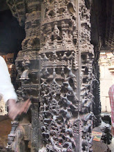 Photo: Hoysala period column carved out a single piece of stone
