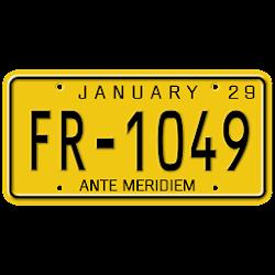 License Plate Digital Clock