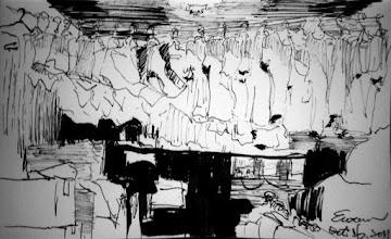 Photo: 晾不乾的衣服2011.10.16鋼筆 監獄裡空間不足以及衛生問題由來已久,就連收容人洗好的衣服要晾哪裡都一直是大家視而不見的老問題,除了放晴的開封日之外,新收房近兩百人的內衣褲就這樣一件挨一件地幾乎沒有間隔地掛在狹小陰暗的走廊盡頭,所有通風就一台抽風機和一台工業電扇二十四小時吹著,遇到下雨的假日,那股近似發霉的味道,連經過時聞到都令人做嘔,就別說穿在身上了…陰雨天就看運氣了,人犯等了一整天,得到的通常只有一句:「衣服沒乾。」只好髒衣服再穿一天、甚致兩天,也就難怪這裡得皮膚病的比例特別高…記得以前某單位有一台超大卻上了鎖的烘衣機,我曾問同事機器是不是壞了?得到的答案卻是:「壞是沒壞,但要是每個單位都來烘衣服,那我不忙死才怪!」現在烘衣機不知哪去了,這理由可就更理直氣壯了吧!唉…