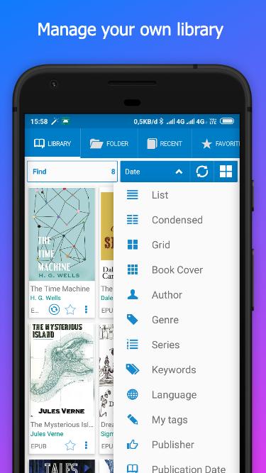 EBooki Reader - Best EPUB PDF Reader – (Android Εφαρμογές