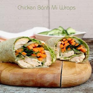 Chicken Bánh Mi Wraps