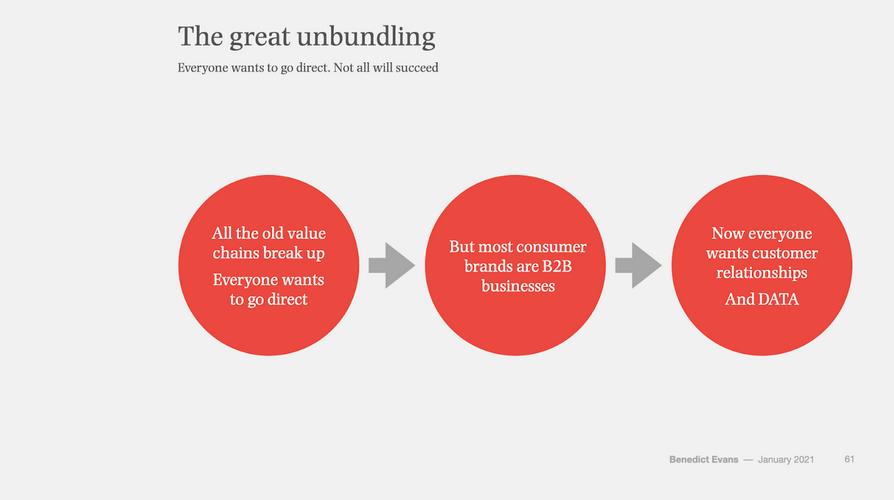 Benedict Evans Great Unbundling
