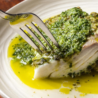 Cilantro-Ginger Halibut