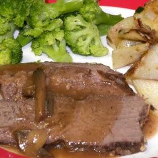 Crockpot Tip Roast with Mushroom Gravy.