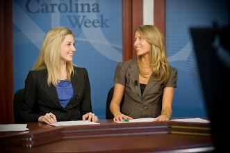 Photo: Carolina Week set, Greene-Waters HD News Center (Photo by Steve Exum)
