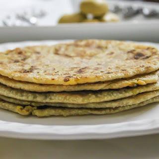 Green Moong Dal Paratha Recipe (Stuffed Lentil Flat Bread).