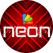 XNeon-Red Theme for Xperia