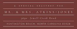 Atkins-Jones - Address Label item