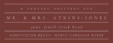 Atkins-Jones - Address Label template