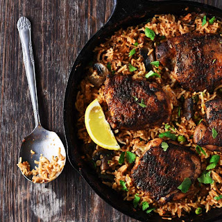 One Pan Spanish Rice & Spiced Chicken Recipe