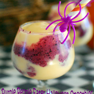 Purple People Eater Halloween Smoothies.