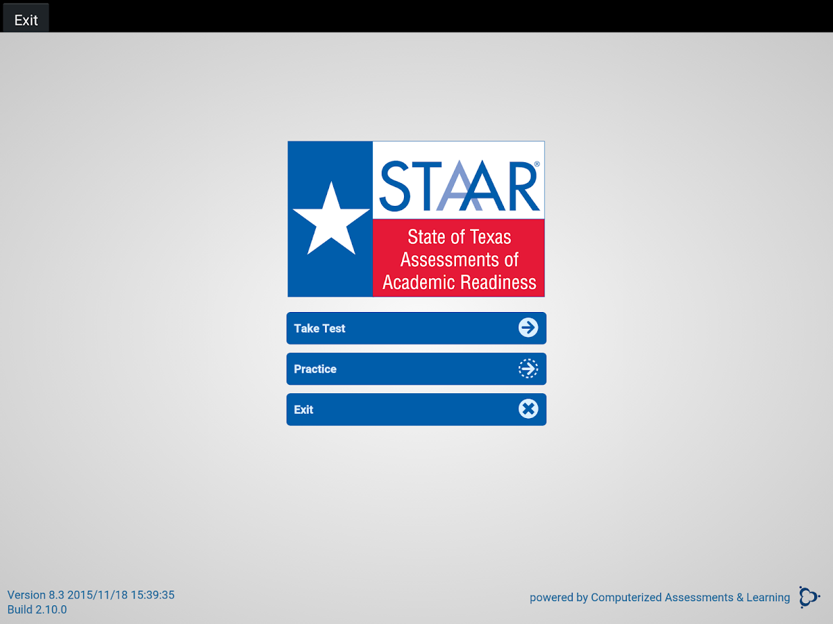STAAR Online Testing Program- screenshot