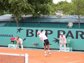 Photo: He's looking good on the serve!