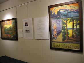 Photo: Terry Daulton's work and John Bates poetry
