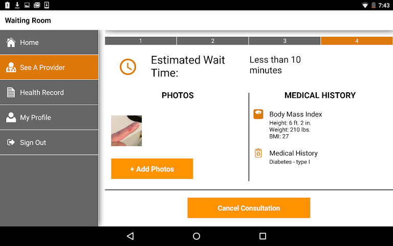 android STAT-MD eClinic Screenshot 9