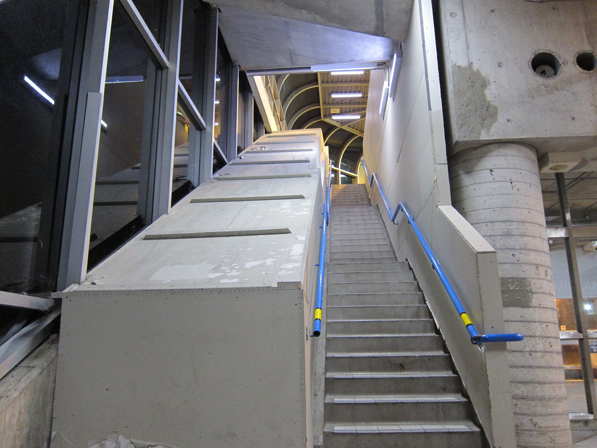 Photo: The left side used to be an escalator, right? Because it's unbelievable otherwise. No architect would do that.